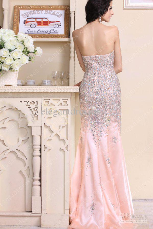 ベストセラー2019スリットの恋人のストラップレススライバのウエディングのドレスのイブニングドレスが付いている2019年のインスピレーションを得たビーズクリスタルマーメイドイブニングドレス015