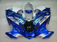 Wholesale Suzuki Gsxf Fairings - Fairings kit For SUZUKI KATANA 2003 2004 2006 GSXF600 GSX600F GSXF 600 03 04 06 GSX 600F white blue Fairing set +7gifts SY35