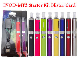 Wholesale Mt3 Battery Set - Cheap EVOD Starter Kit ego Blister kits MT3 Clearomizer Rechargable EVOD Battery 650mah 900mah 1100mah DHL Free Mix Order Available