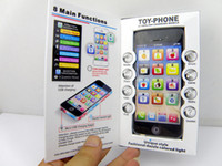 Wholesale Toy Phones For Babies - Free shipping Y phone Toy With Light & Micro USB Charging Spigot,toy phone 5 English learning machine educational toys for kids,30pcs lot