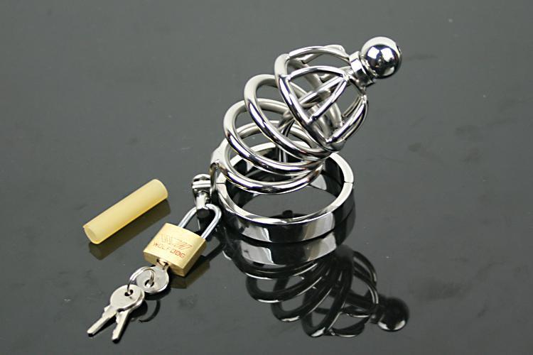 Cintura di castità uretrale in acciaio inossidabile Cintura di castità maschile Bondage Fetish SM Sex Toys Art Cage Device