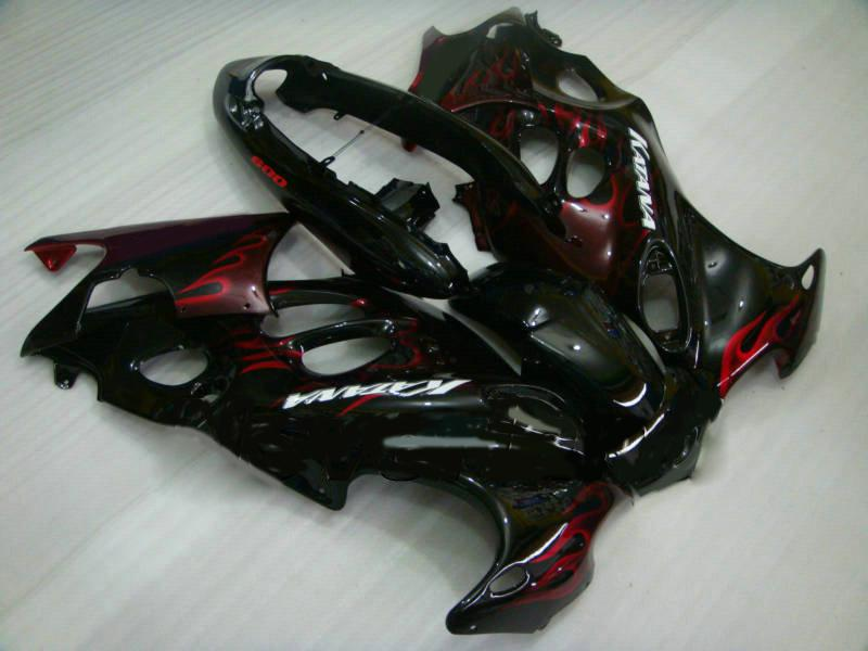 Fairings kit For SUZUKI KATANA 2003 2005 2006 GSXF600 GSX600F GSXF 600 03 04 05 06 Red flames black Fairing set+gifts SY38