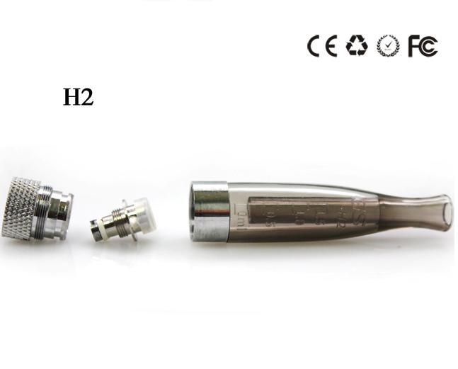 GS H2 Atomizer GSH2 Detachable Clearomizer No Wick Rainbow Colors Replace CE4 Cartomizer For EGO eGo-T W VV USB 510 Battery