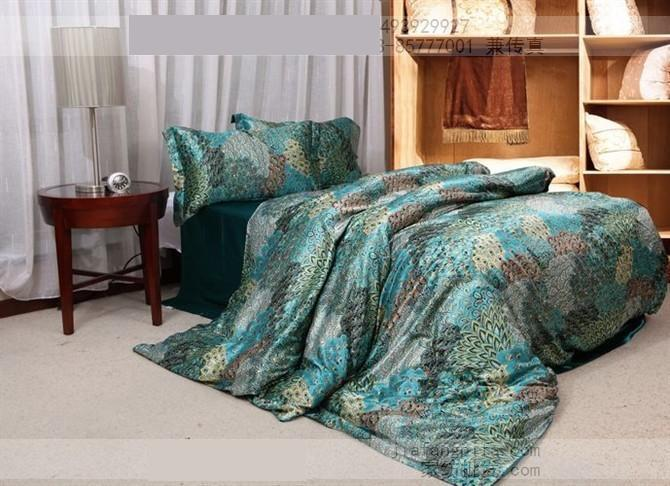 Lovely Blue Green Peacock Tail Natural Mulberry Silk Comforter Bedding Set King  Size Queen Comforters Quilt Duvet Cover Bed Sheet Bedspread Phoeni Bed  Linen ...