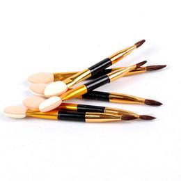 Wholesale Sponge Eyeshadow Applicators Makeup - Eyeshadow Sponge Applicator Makeup Brushes 20Sets 6pcs Per Set Lot Of Eye Shadow Brushes 2.5 Inch 617#