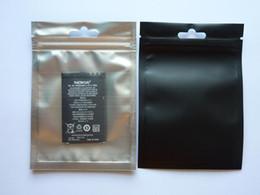 Wholesale Zip Lock Black - 8.5*13cm Clear+black Metallic aluminizing aluminum foil zipper plastic bag aluminum foil Zip lock Pouches packaging Bags Recyclable Bag