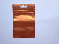 alüminyum çanta paketi toptan satış-Ücretsiz Kargo turuncu + Şeffaf Metalik aluminize folyo fermuar plastik torba alüminyum folyo Kilitli Torbalar ambalaj Çanta Geri Dönüşümlü Çanta 8.5 * 13 cm
