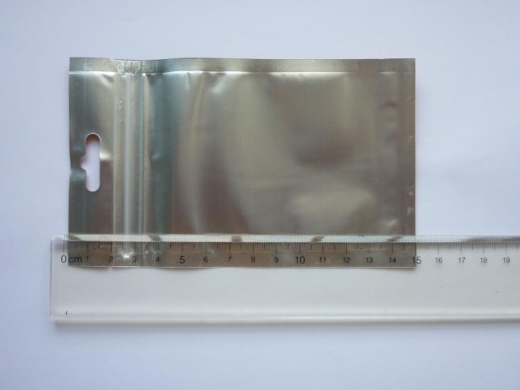 9X15cm прозрачный+оранжевый Алюминирования фольга молния пластиковый мешок самоуплотняющаяся пластиковый мешок алюминиевой фольги пластиковый мешок упаковка сумки