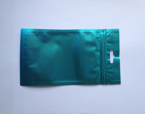 9X15cm Clear+Blue Aluminizing Foil Zipper Plastic bag self sealing Plastic bag Aluminium Foil Plastic Bag Packing Bags