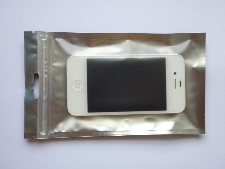 10X17.5cm Aluminizing Foil Zipper Plastic bag Zip lock Plastic bag Aluminium Foil Plastic Packing Bags Package for Mobile Phone Accessories