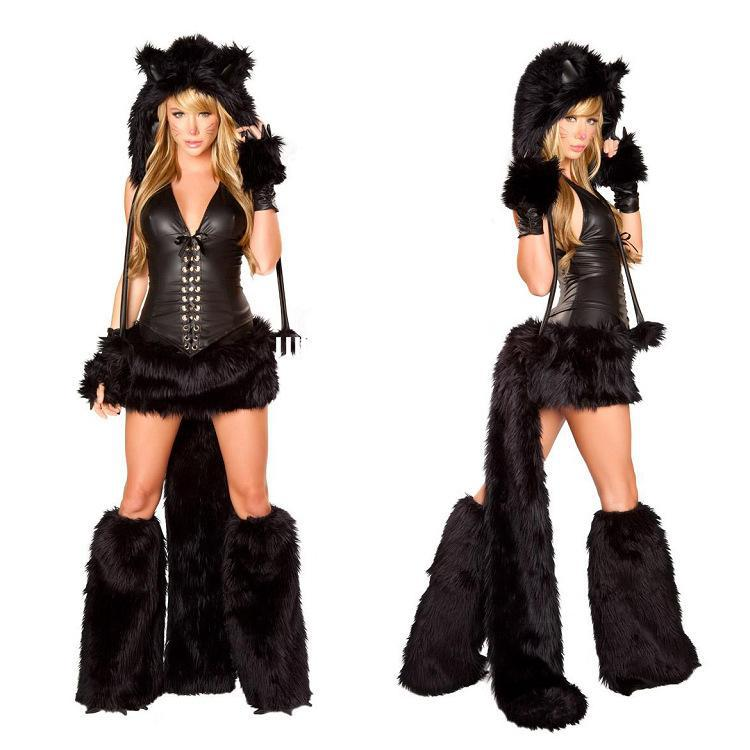 Deguisement Chat Halloween acheter costume sexy de halloween de léopard de fourrure costume de