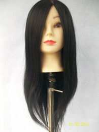 Wholesale Wig Head Clamp - Cosmetology Mannequin Training Head with Black Hair with Table Clamp Holder Free Shipping