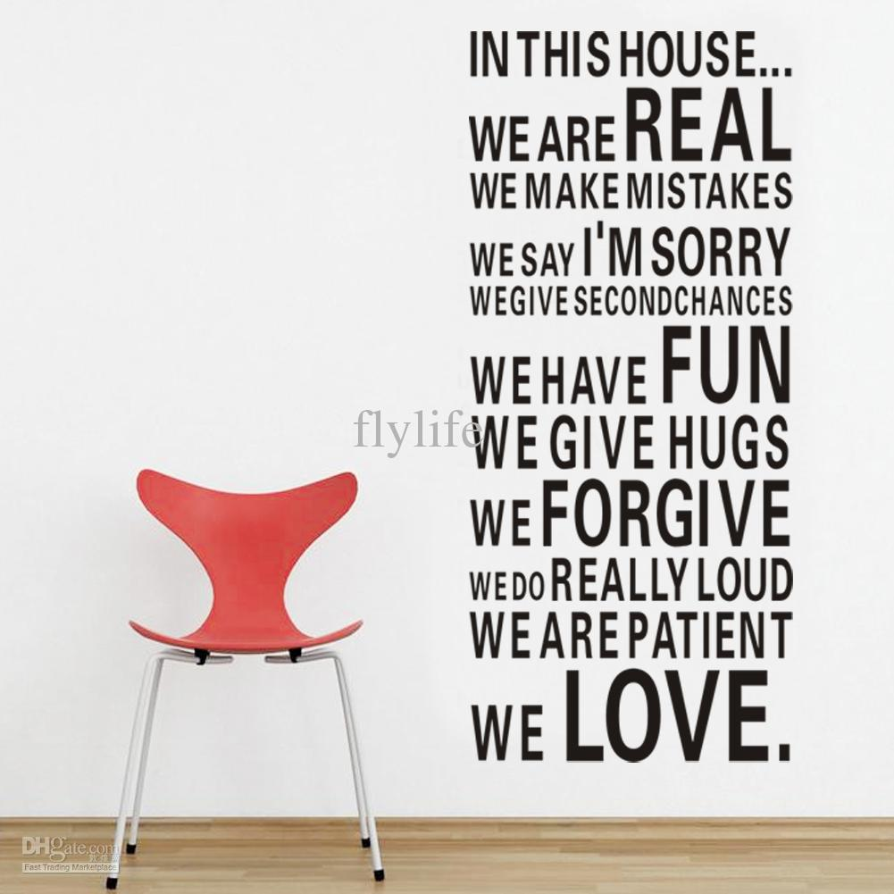 House Full Of Love And Fun Large Size Vinyl Wall Lettering Stickers Quotes  And Sayings Home Art Decor Decal Wall Decal Deals Wall Decal Decor From  Flylife, ... Part 66