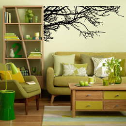 Wholesale Branches Stickers - Tree branches, large black art wall stickers for living room, for bedroom