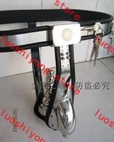 Wholesale Male Chastity Belt Fully Adjustable - Male Chastity Cage Male Fully Adjustable T-type stainless steel anal plug + catheter