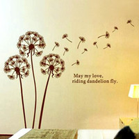 Wholesale Dandelions Wall Stickers - Dandelion Quotes Art Wall Decor Vinyl Stickers Removable Decals for Living Room Bedroom Decoration