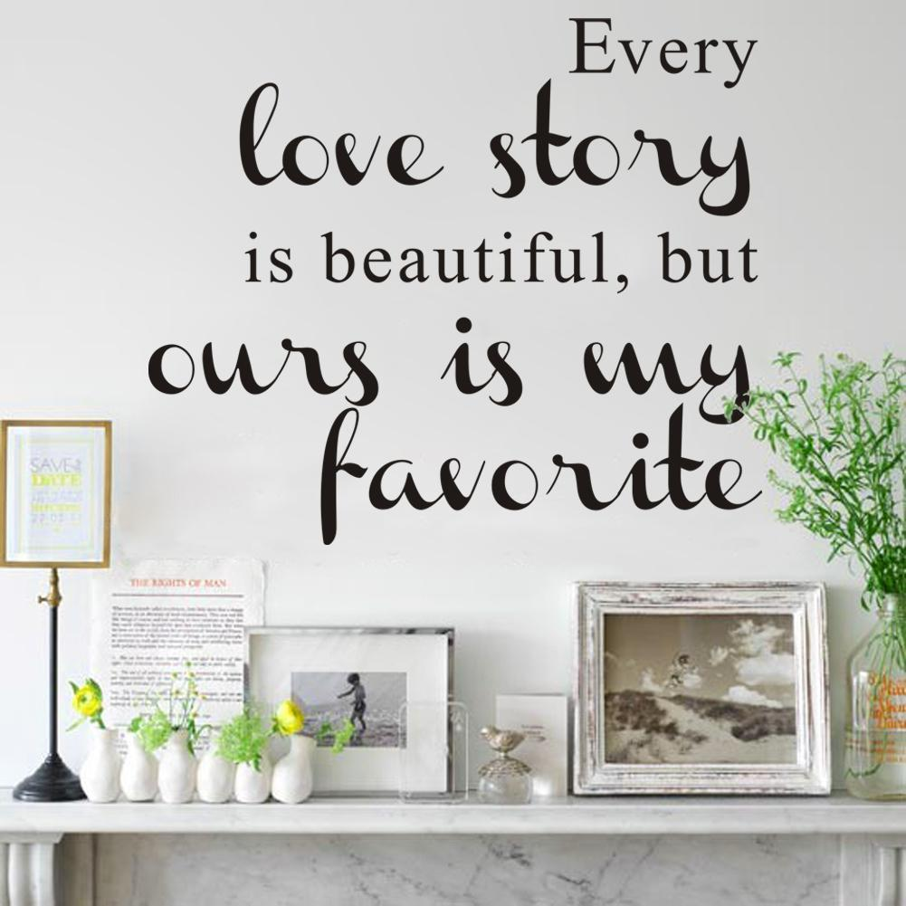 Every love story is beautiful but ours is my favorite wall decals every love story is beautiful but ours is my favorite wall decals quotes decor vinyl art wall stickers wall decal decorations wall decal design from amipublicfo Image collections