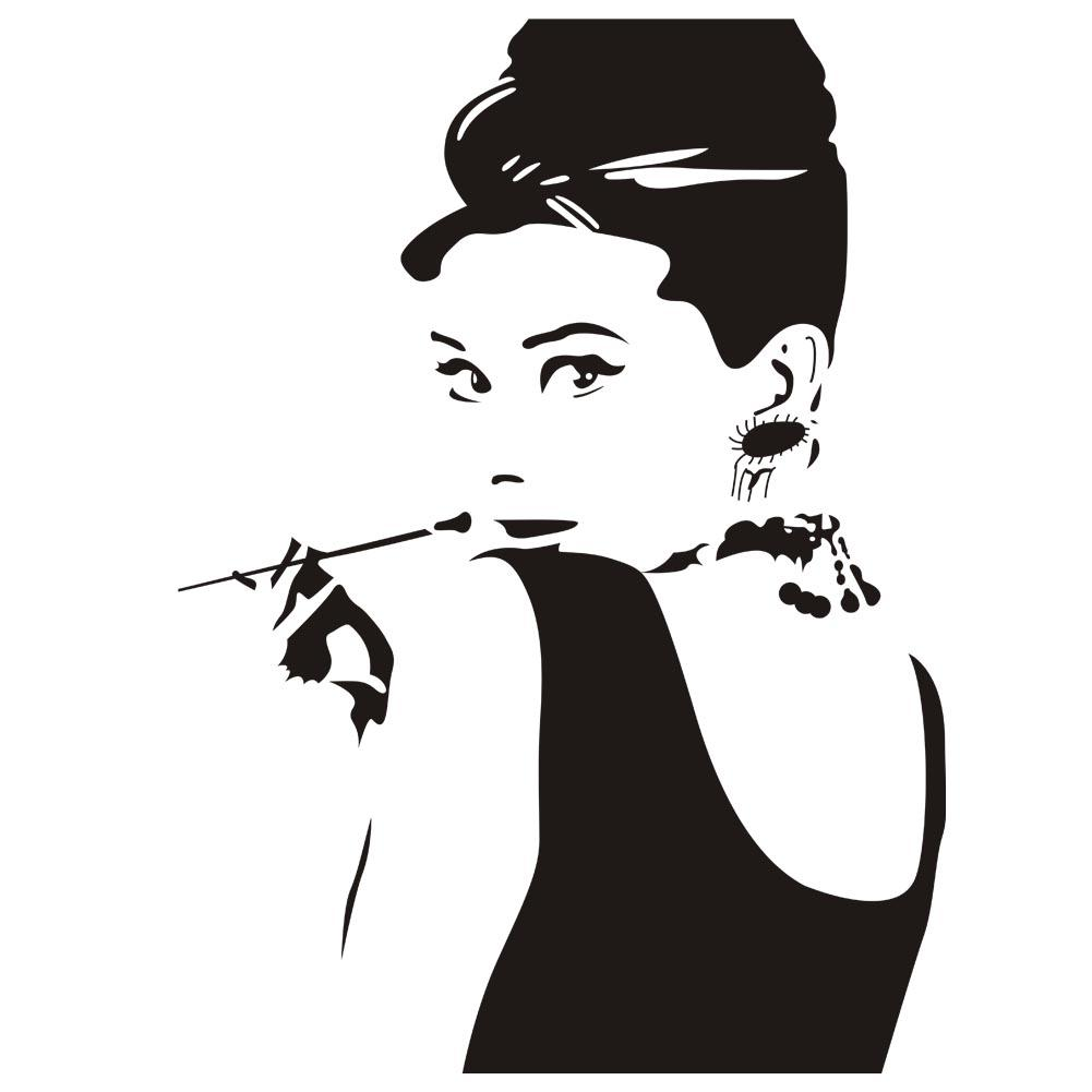 Audrey Hepburn Portrait Vinyl Removable Wall Stickers Home Art Wall Decor  Decals For Living Room Bedroom Decoration Wall Decal Sale Wall Decal  Sticker From ... Part 17
