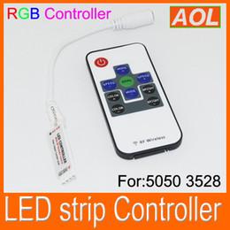 Wholesale Kit For 12v Led Strip - Mini RF wireless Remote controller RGB LED Control for led strip light 3528 5050 RGB waterproof LED tape light kit RF controller