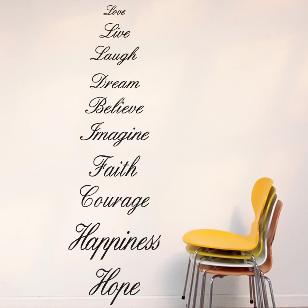 the most meaningful words in life large vinyl wall lettering the most meaningful words in life large vinyl wall lettering stickers quotes and sayings home art decor decal white wall decals white wall stickers from