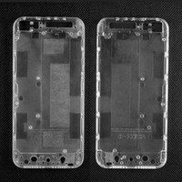 Wholesale Clear Back House Iphone - Translucent Mod Kit for iPhone 5 Clear Plastic Back Cover Housing Transparent Battery Door Battery Cover With Small Parts For iPhone 5