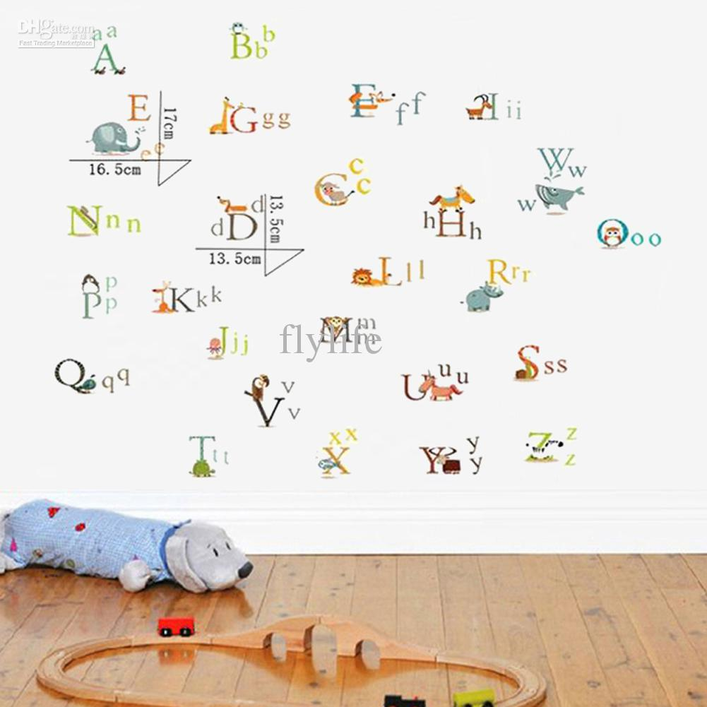 Colorful Alphabet Letters Diy Decorative Wall Stickers Decals For Nursery  Kids Bedroom Buy Wall Decal Buy Wall Decals From Flylife, $5.03| Dhgate.Com Part 37