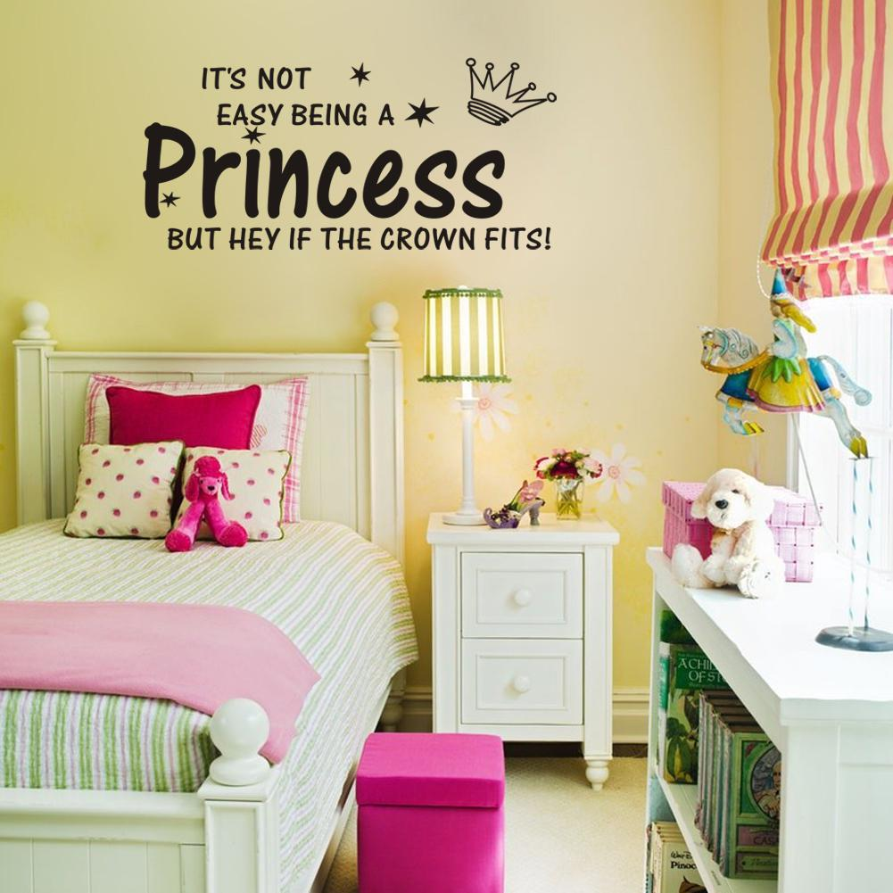 Its not easy being a princess vinyl wall lettering stickers its not easy being a princess vinyl wall lettering stickers quotes and sayings home art decor decal amipublicfo Gallery