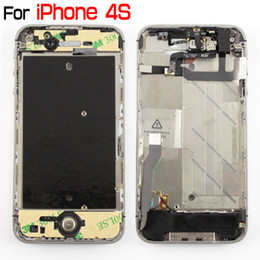 Wholesale Iphone4 Apple Original - For iPhone 4 4G 4S Original Full Mid-frame Middle Chassis Frame Bezel Assembly With Small Parts For iPhone4 iPhone4S Middle Housing Assembly