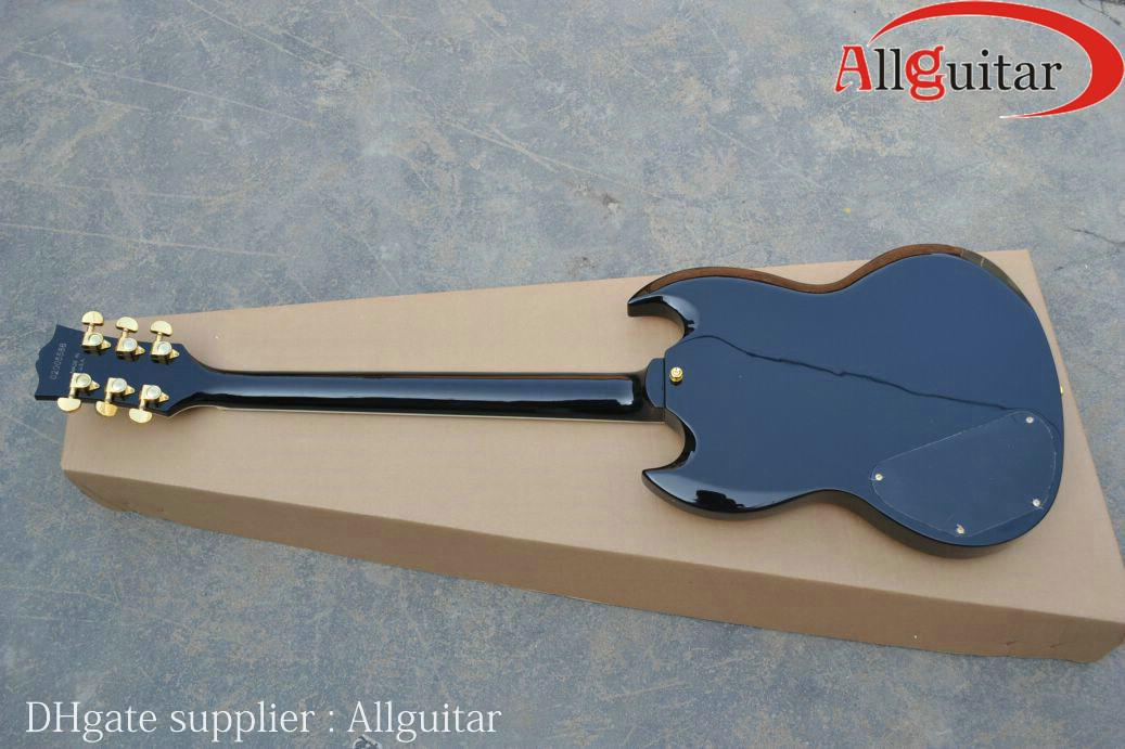 Nagelneuer Custom Shop SG Orange Rot Schwarz E-gitarre China Gitarre