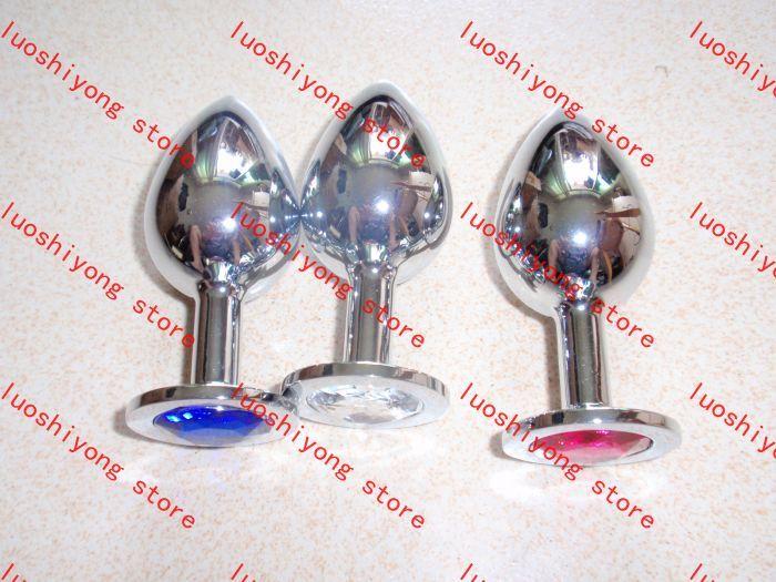 Bu 325g L boyutu 4 * 10.16 CM Paslanmaz Çelik Cazip Butt Plug Takı Anal Plug Rosebud Anal takı