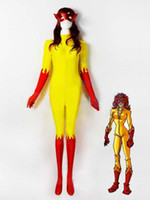 Halloween cospaly mixed colors Marvel Comics Firestar Spande...