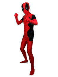 Wholesale Japanese Costume Male - Halloween cospaly spell color Newest Style Deadpool Spandex Deadpool Costume zentai lycra tights activities Costumes