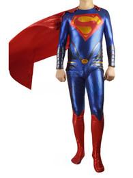 2019 spandex zentai superman Halloween cospaly hechizo color Hombre de acero Superman Superman Disfraz zentai lycra medias actividades Disfraces rebajas spandex zentai superman
