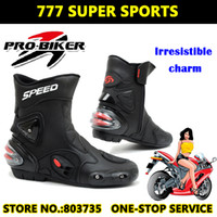 Wholesale Bike Shoe Size - Motorcycle Boots Cycling Bike Boots Sport Motocross Shoes Super Racing Cycle Gear Sports Shoe Half Boots Protective Gears A004