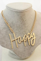 Wholesale Costume Jewelry Accessories Cheap - Wholesale Cheap Mix 6Pcs Lot Fashion Ladies Gold Plated Love Happy Cool Necklaces Costume Jewelry For Women Accessories A06020