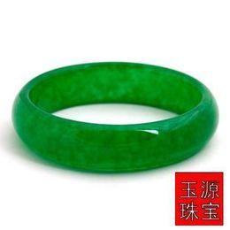 Wholesale Icy Jade - Quality Grade A Jadeite Jade Bangle Natural full Bracelet Icy Faint Green