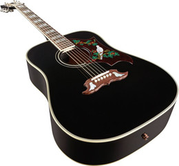 2013 Custom Guitar Shop New Arrival Spruce Black DOVE 6 Strings Acoustic Guitar Free Shipping