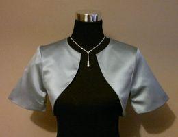 Wholesale White Short Dress Bolero - Custom Made bridal jacket New Style satin Wedding dresses shrug With Short Sleeves for women formal gowns Free Shipping DH6609