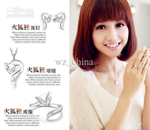 925 Sterling silver hänge halsband branddjur halsband älskar charm emalj brons bröllop smycken för kvinnor