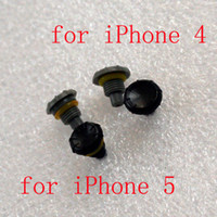 Wholesale Headphone Replacement Case - DHL Mix High Quality Headphone Jack Replacement Covers Screw Seal Cap Caps for iPhone 4 4S iphone 5 5S Waterproof Case Grey Black 500pcs