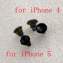Wholesale Headphone Replacement Case - DHL Mix High Quality Headphone Jack Replacement Covers Screw Seal Cap Caps for iPhone 4 4S iphone 5 5S Waterproof Case Grey Black 500pcs