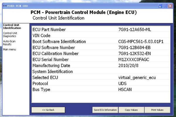 Ford Vcm Obd software download, free