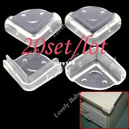 Wholesale Guard Corner - Wholesale - 80pcs Clear Baby Safety Guard Protector Cushion Table Desk Corner Protector free shipping (20set lot