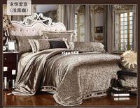 Wholesale Bedding Textile - Wholesale - Free Shipping 4 pcs of satin silk textile cotton quilt cotton marriage celebration bedding denim bed