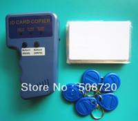Wholesale Card Duplicator - RFID Handheld Duplicator 125KHZ Card copier writer+5pcs EM4305 rewritable tags+5pcs T5577 rewritable cards