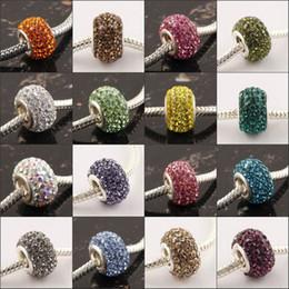 En gros 100PCS / LOT 14mm Cristal Multicolore Strass Charme Grand Trou Entretoise Perles Fit Européenne Bracelets Résultats de Bijoux ? partir de fabricateur