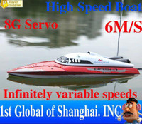 Wholesale Unique Rc Toys - Wholesale - Free Shipping Unique Toys Double Horse 7009 35cm Infinitely variable Radio Control Rc Racing Boat +
