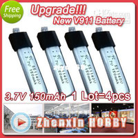 Wholesale Wl V911 Battery Upgrade - Wholesale - Freeshipping!Upgraded 3.7v 150mAh Battery for WL Toys V911 New Version Plug RC Heli spare part Acces