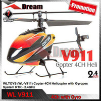 Wholesale Rc Helicopter Solo Pro - Wholesale - Free shipping WL V911 4CH 2.4GHz Mini Radio Single Propeller RC Helicopter with Gyro Solo Pro