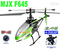 Mayor - envío libre !! MJX F45 F645 RC Helicóptero 2.4G 4 canales F-SERIE w / MEMS GYRO amp; Transmisor LCD